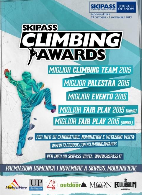 Climbing Awards 2015 by Skipass, annunciate le nomination